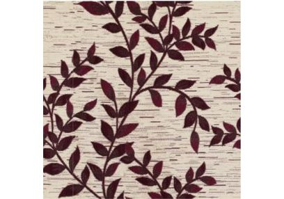 Raindrop Floral Curtain Fabric - 25, red, fabric