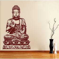 KakshyaaChitra Lotus Sitting Buddha Wall Stickers