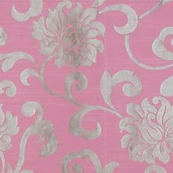 Rangshri Floral Curtain Fabric - 37, sample, pink