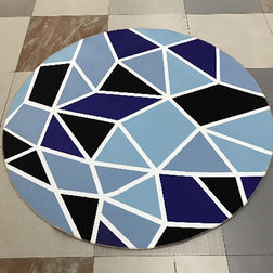 Floor Carpet and Rugs Hand Tufted, AC Concept AbstractBlue Carpets Online - RNDC-51-L, 3ftx5ft, blue