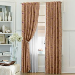 Antique Abstract Readymade Curtain - 21, door, brown