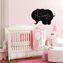 Kakshyaachitra Elephant Shaped Blackboard Wall Stickers For Bedroom And Living Room, 24 17 inches