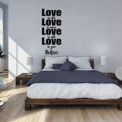 Kakshyaachitra Quote On Love Wall Stickers For Bedroom And Living Room, 48 114 inches