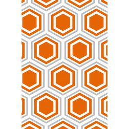 Floor Carpet and Rugs Hand Tufted, AC Concept Geometric Orange Carpets Online - ACR (17) -L, orange, 3ftx5ft