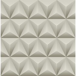 Elementto Geometric Design Modern 3D Wallpaper for Walls - td31000, beige
