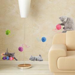 Children Wall Sticker Home Decor Line Playful Cats - 54452