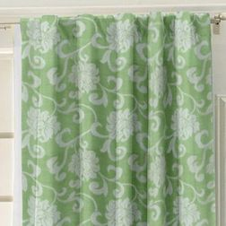 Rangshri Floral Readymade Curtain - 5, green, door