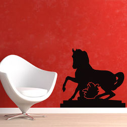 Kakshyaachitra Galloping Horse Wall Stickers For Kids Room, 24 21 inches