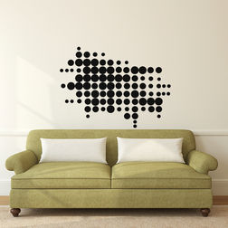Kakshyaachitra 95 Polka Dots Wall Stickers For Bedroom And Living Room, black, 33 24 inches