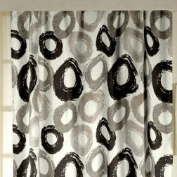 Passion Geometric Readymade Curtain - 35Black, black, long door