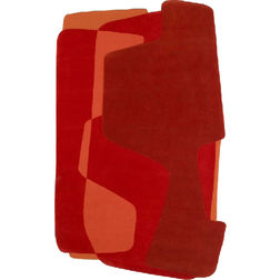 Floor Carpet and Rugs Hand Tufted AC ConceptAbstract Red Carpets Online - SC-46-L, 3ftx5ft, red