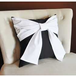 Bow Cushion Cover MYC-52, pack of 1, black