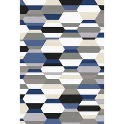 Floor Carpet and Rugs Hand Tufted, AC Concept Geometric Multi Carpets Online - ACR 49-L, multi, 3ftx5ft