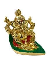 RK Fashion Gold Plated Divine Lord Ganesh Idol - (6.5x6.5x5 cm -Gold), gold