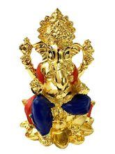 RK Fashion Gold Plated Divine Lord Ganesh Idol - (7.5x6x5 cm -Gold), gold