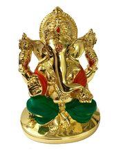RK Fashion Gold Plated Divine Lord Ganesh Idol - (11x8.5x6 cm -Gold), gold