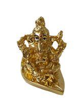 RK Fashion Gold Plated Divine Lord Ganpati Idol - (6.5x6.5x5 CM-GOLD), gold