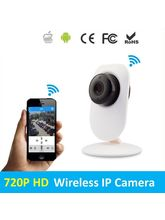 Techbot Mini Wireless Hd Ip Wifi Cctv Indoor Security Camera Support Upto 128 Gb Sd Card, white