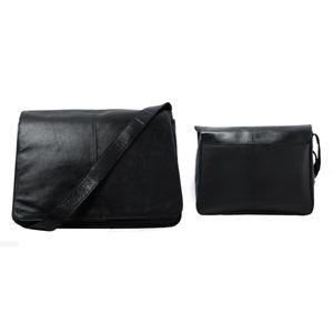 MESSANGER BAG(EBO52BLKL) (39x27.5 x10.5cm)