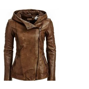 Womens Leather Jacket Brown