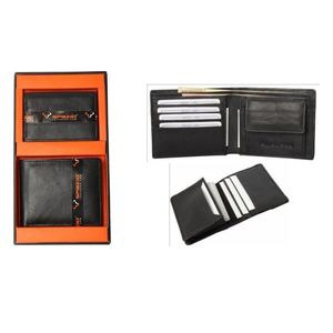 SET OF TWO (MEN' S WALLET & VISTING CARD HOLDER) (11.5x9.5x1.5 cm & 7.5x10x1cm)