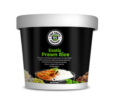 Exotic Prawn Rice (Serves 1) 90g, Ready to eat meal, The Taste Company