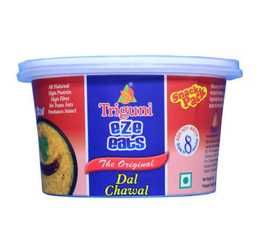 Dal Chawal (Serves 1) 55g, Ready to eat meal, Triguni Eze Eats