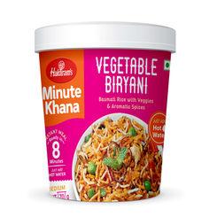 Vegetable Biryani (Serves 1) 70g, Haldirams Minute Khana, Ready to eat