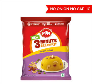 Kesari Halwa Pouch (Serves 1) 60g, Ready to eat meal, MTR Foods