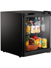 Kitchoff 50 Litre Aluminium & Glass Door Mini Refrigerator