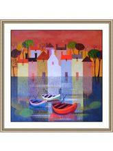 Shine India Abstract Painting on Vinyl Poster, small, multicolor