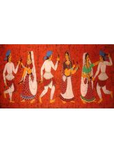Shine India Artistic Painting on Canvas, small, multicolor