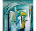 Shine India Abstract Painting on Canvas, large, multicolor