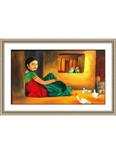 Shine India Artistic Painting on Vinyl Poster, small, multicolor