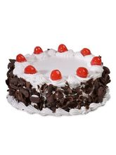 Meandmycake Black Forest Cherries Regular Cake (MAMCR006), 500 gm, midnight delivery