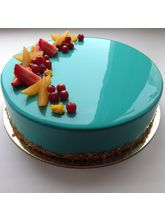 Meandmycake Aqua Splash Mirror Cake (MAMCM001), midnight delivery, 1 kg