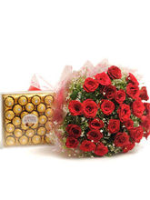 Meandmycake 25 Red Roses-24 Fererro Rocher, midnight delivery