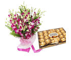 Meandmycake 24 Fererro Rocher-15 Orchids, normal delivery