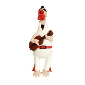 Karlie Crazy Chicken with Guitar Squeaky Dog Toy, 9 inch