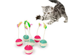Transer Sisal Ball Cat Toy, assorted