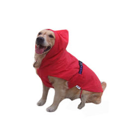 Zorba Designer Dual Protection Solid Raincoats for Medium Dogs, red, 22 inch