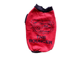 Rays Fleece Warm Rubber Print Tshirt for Small Dogs, 16 inch, red bouncer