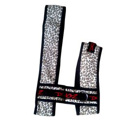 Zorba Designer Cheetah Printed Body Harness Set for Toy to Small Breed Dogs, 14 inch