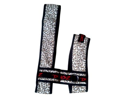 Zorba Designer Cheetah Printed Body Harness Set for Small Breed Dogs, 18 inch