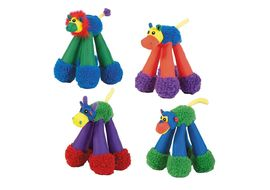 Chomper Jr. Doggy Long Legs Dog Toy, assorted