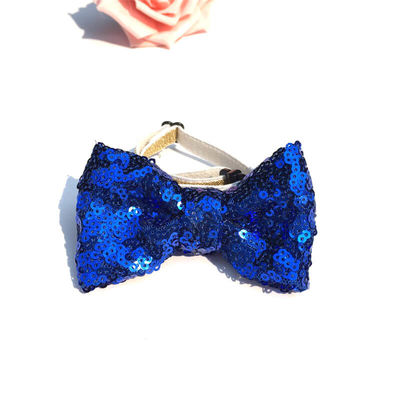 Imported Party Bowknot Elastic Collar for Cat and Small Dog, dark blue