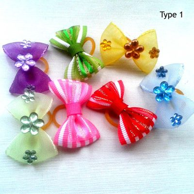 Puppy Love Deluxe Hair Bows for Pets, type 1, assorted
