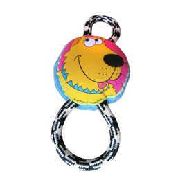 Fat Cat Soft Squeaky Rope Tug Dog Toy, 12 inch
