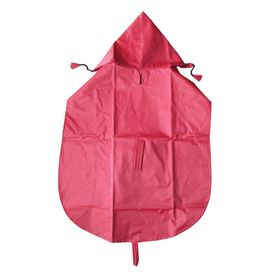 Premium Nylon Raincoat for Large Dogs, 28 inch, red