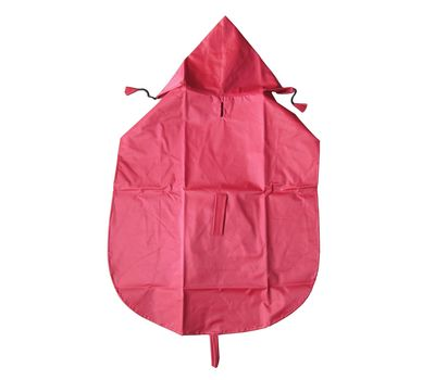 Premium Nylon Raincoat for Large Dogs, 26 inch, red
